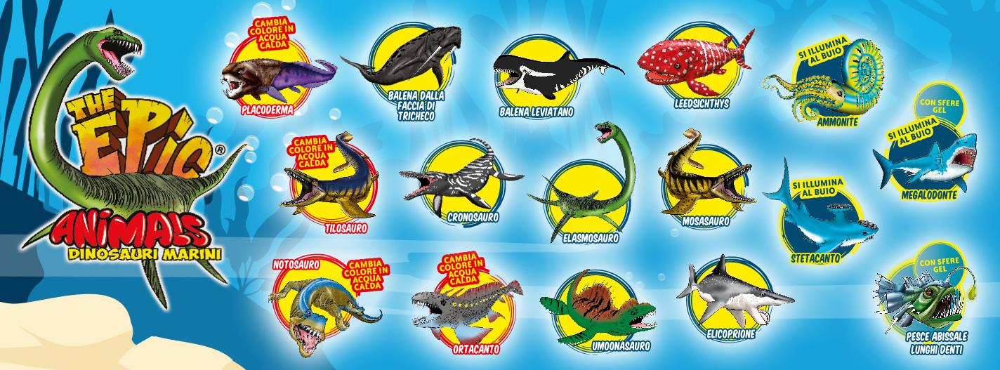 Diramix Epic Animals Dinosauri Marini